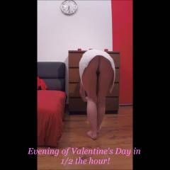 Before The Evening of Valentine's Day - Lingerie, Masturbation, Striptease, Toys