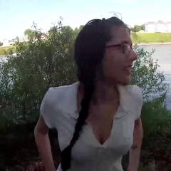 Public Blowjob And Facial - Brunette Hair, Nude In Public, Blowjob, Cumshot, Wife/wives , It Was Such A Nice Day Outside That We Thought We'd Go Out And Have Some Fun! We Eventually Found A Quiet Little Beach Where I Could Get On My Knees And Give My Husband A Blowjob! After Just A Few Minutes Of Sucking And Stroking, He Came All Over My Face, But Of Course We Forgot The Wipes In The Car, So I Had To Walk All The Way Back With Cum All Over My Face! I Don't Think Anyone Noticed So We'll Definitely Be Using That Spot Again! :)