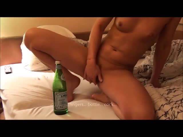 Penis in bottle masturbation