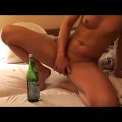Fingers, Bottle, Cock - Blonde Hair, Masturbation, Anal, Penetration Or Hardcore, Ass Fucking , Naked, Masturbating, Bottle In Pussy, Milf