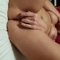Fingering Her Pussy n Ass - Big Tits, Brunette, Masturbation
