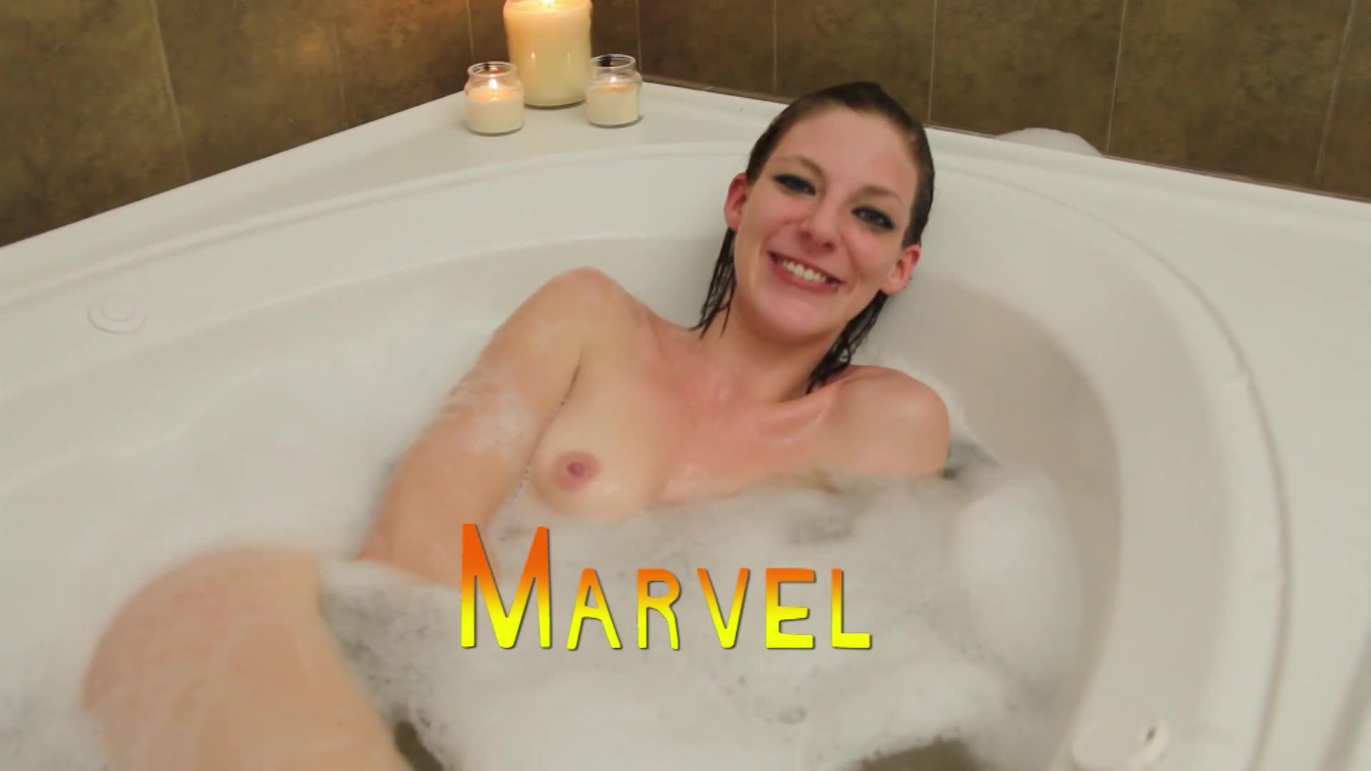 Pic #1Marvel The Super Hero - Nude Girls, Brunette, Shaved, Amateur, Firm Ass, Bald Pussy