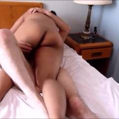 Wife Rides Unsafe (BB) Cowgirl On Cuck Lover While Hubby Records
