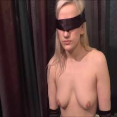Molly Blindfolded And Sucking - Nude Girls, Big Tits, Blonde, Blowjob