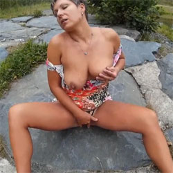 On The Walk - Nude Amateurs, Big Tits, Masturbation, Outdoors, Toys
