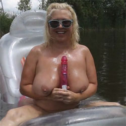 Play With My Toy - Nude Girls, Big Tits, Blonde, Outdoors, Toys, Shaved, Amateur, Body Piercings, Tattoos