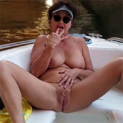 Pussy Play Near Cathedral In The Desert - Nude Amateurs, Big Tits, Brunette, Mature, Masturbation, Outdoors, Shaved