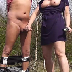 Stroke A Dick Outdoor - Big Tits, Outdoors, Hand Job, Amateur